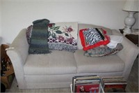 Two-Cushion Upholstered Sofa And Misc.
