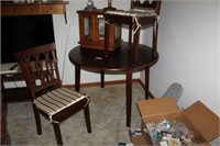 Round Dining Table And Two Chairs