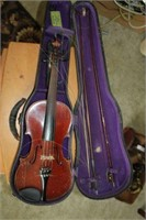 Vintage Violin With Bow And Case