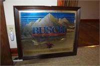 Busch Beer Advertising Mirror