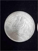 1898 & 1923 Peace & Morgan Silver Dollar