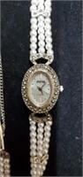 Beautiful Avenir Beaded Pearl Band Watch