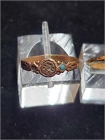 Vintage 14k Band & Bronze Colored Band