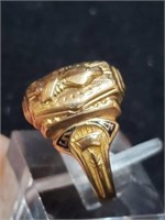 10k Gold Class Ring & Pin Sterling Ring Metal Pins