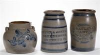 Selection of American folk pottery