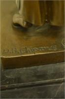 D. H. CHIPARUS SIGNED ART DECO BRONZE SCULPTURE