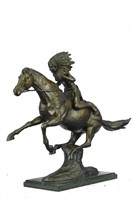 REMINGTON WARRIOR BRONZE SCULPTURE
