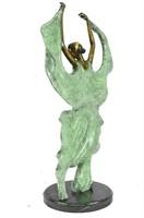 COLLET ART DECO DANCER BRONZE SCULPTURE