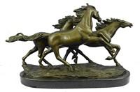 ZENGH WILD MUSTANG HORSES BRONZE SCULPTURE
