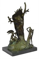 """DALI """"THE NOBILITY OF TIME"""" STATUE"""
