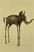 SALVADOR DALI ELEPHANT BRONZE SCULPTURE