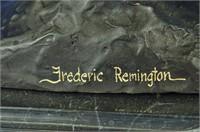 FREDERIC REMINGTON NATIVE AMERICAN BRONZE STATUE