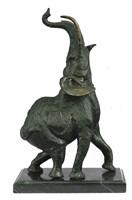 J.MOIGNIEZ MAGESTIC ELEPHANT BRONZE STATUE