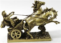ACHILLES ON THE TWO HORSE CHARIOT GREEK WARRIOR