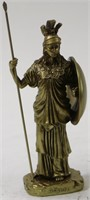 ATHENA HOLDING JAVELIN WITH SHIELD SCULPTURE