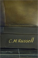 C.M RUSSELL VIENNA BRONZE JACK RUSSELL STATUE