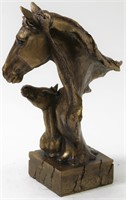 TWO HORSES FAMILY FIGURE FIGURINE
