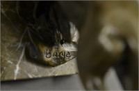 BARYE HOT CAST JUMPING LION SCULPTURE
