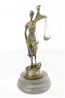 MAYER'S LADU JUSTICE BRONZE SCULPTURE