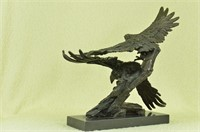 MILO'S TWO MAJESTIC EAGLE FLYING SCULPTURE