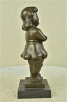 BOTERO'S ABSTRACT YOUNG GIRL SCULPTURE
