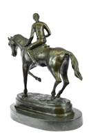 MILO'S HORSE AND JOCKEY ACADEMY RACING SCULPTURE