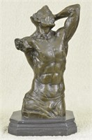 NICK'S ABSTRACT MALE BRONZE SCULPTURE STATUE