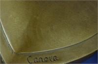 CANOVA'S LION CREST HEIRLOOM BRONZE SCULPTURE