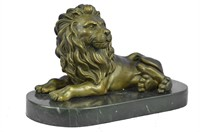 MILO AFRICAN LION SAFARI BRONZE MARBLE BASE