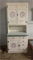Painted Hoosier Style Cabinet 2 Piece 36x25x85