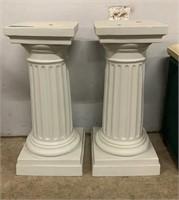 2 Plastic Column Pedestals 10x10x24