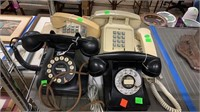 Vintage Rotary Dial Phone, 4 Push Button Phones