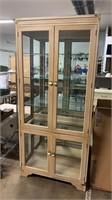 4 Door Lighted 1pc Display Cabinet 36x16x80