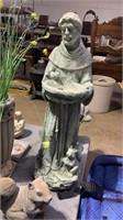 Skid Of Garden Decor, Planters, Dog, Squirrell,