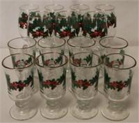 15pc Set of Christmas Glasses