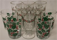 10pc set of Christmas Glasses