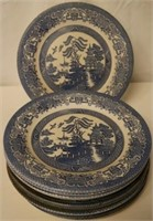 10pc Blue Willow Plates