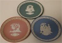 3pc set of Wedgwood Plates