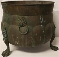 Brass Bucket Planter