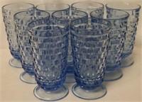 Fostoria American Light Blue Glasses 9pcs