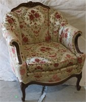 Pink Flowers upholstered Chair Fogle Furniture