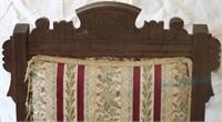 Upholstered arm chiar- burgundy stripes