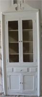 White Painted Corner Cabinet
