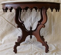 Marble topped victorian side table