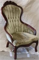 Green victorian arm chair