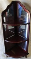 Mirrored corner shelf