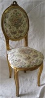Gold Painted Upholstered vanity chair