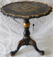 Black and gold flip top table