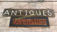 2 Wooden Antique Signs