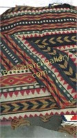 Tribal Style Rug, 2 Textile Weavings